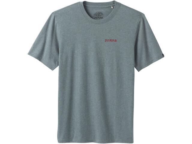 Prana Castle Crest T-shirt Homme, smoky blue heather